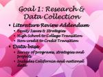 goal 1 research data collection