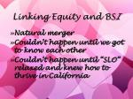 linking equity and bs i