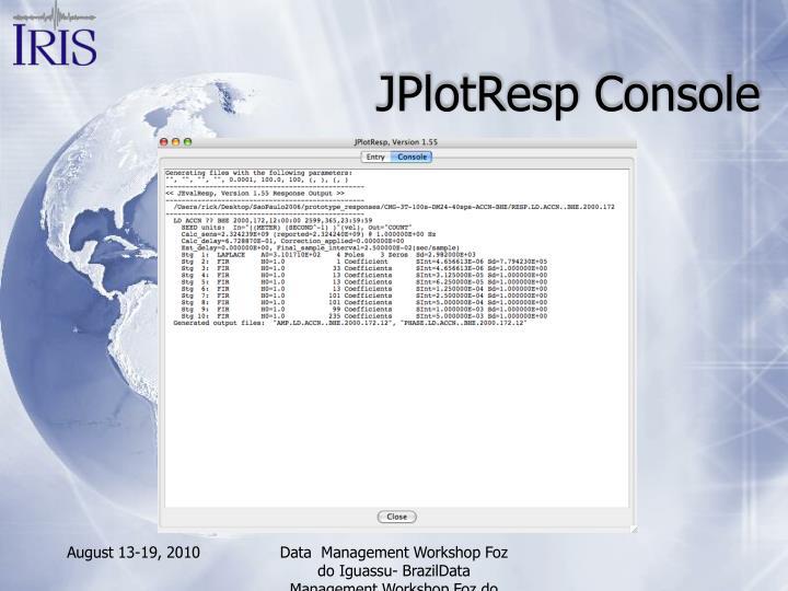 JPlotResp Console