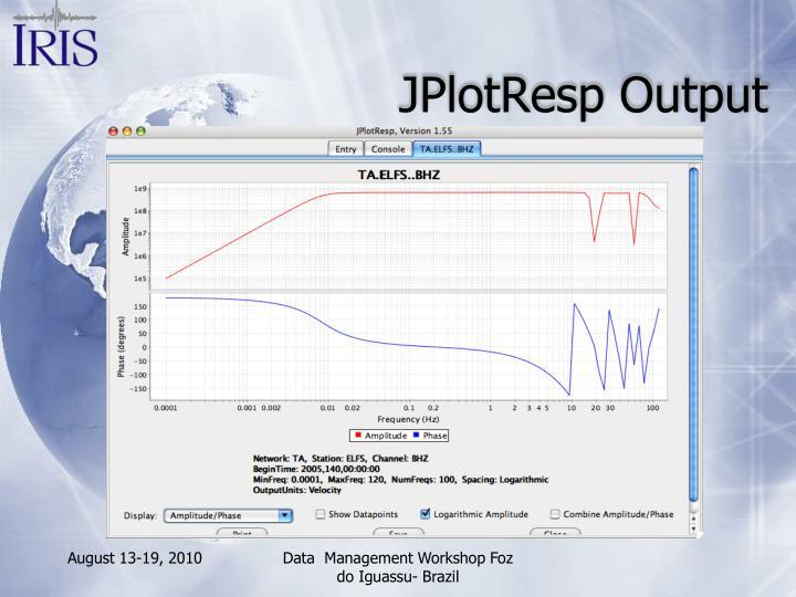 JPlotResp Output