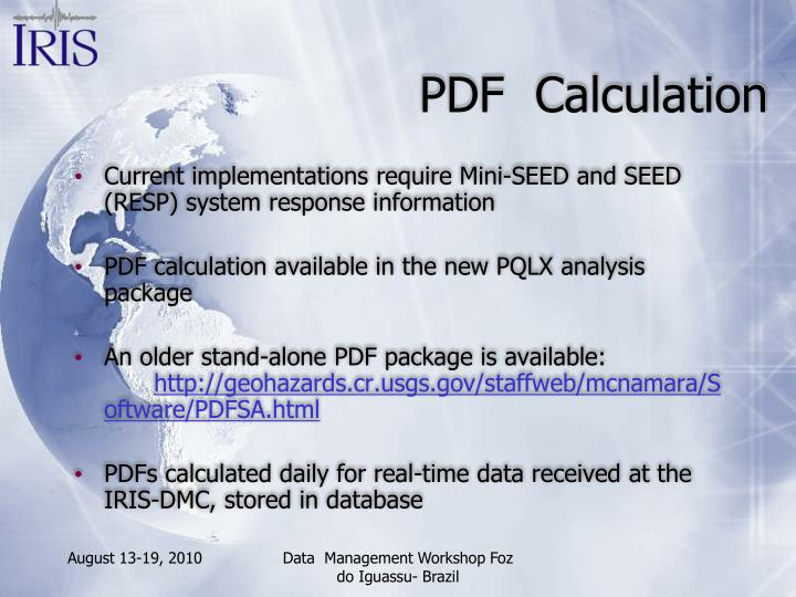 PDF  Calculation