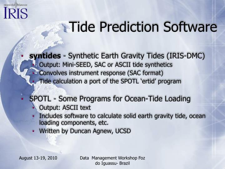 Tide Prediction Software