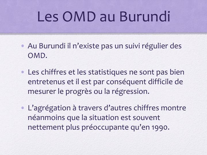 Les OMD au Burundi