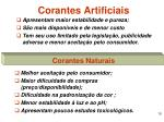 corantes artificiais