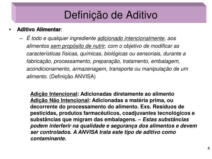 Definição de Aditivo