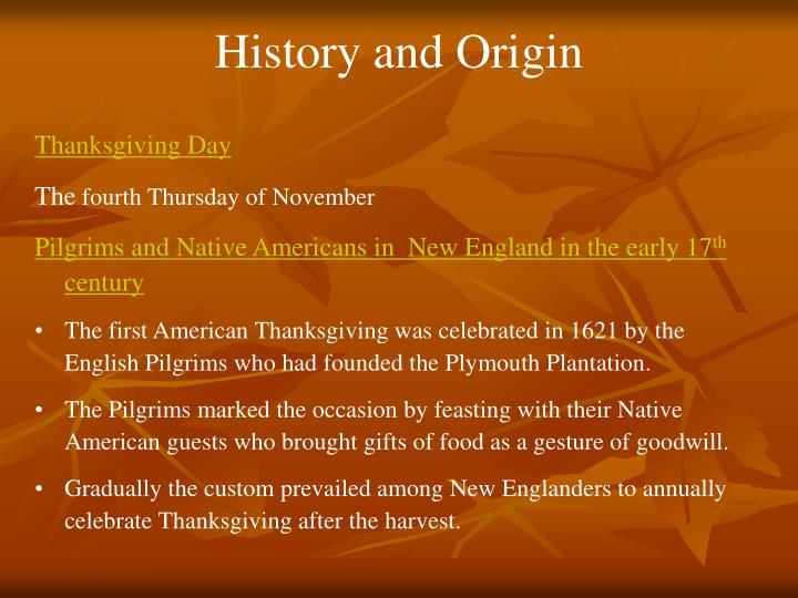 History and Origin