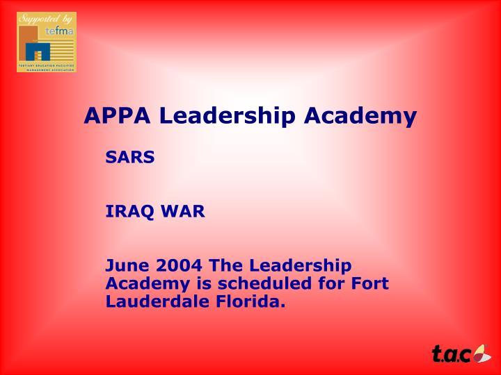 APPA Leadership Academy