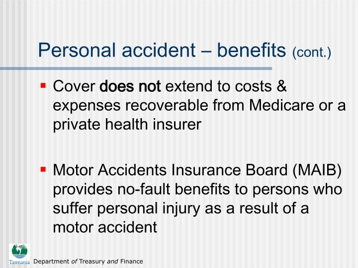 Personal accident – benefits