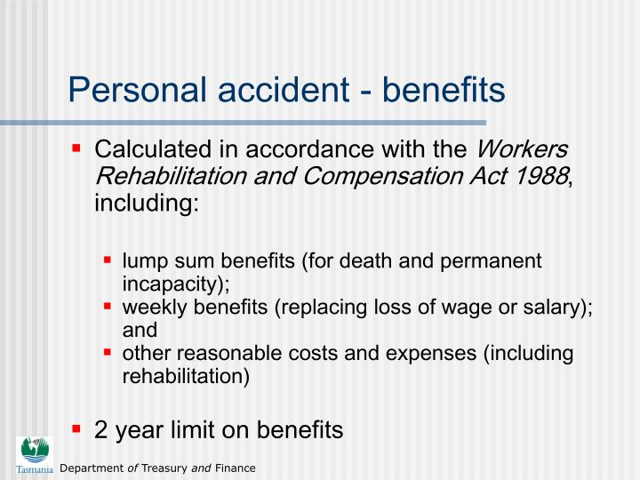 Personal accident - benefits