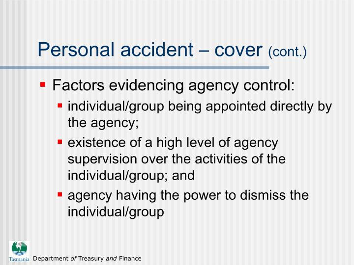 Personal accident – cover