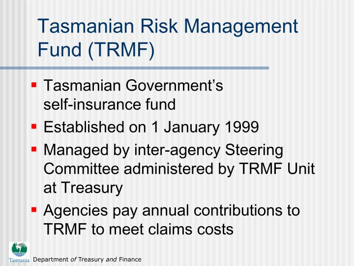 Tasmanian risk management fund trmf