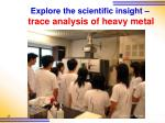 explore the scientific insight trace analysis of heavy metal