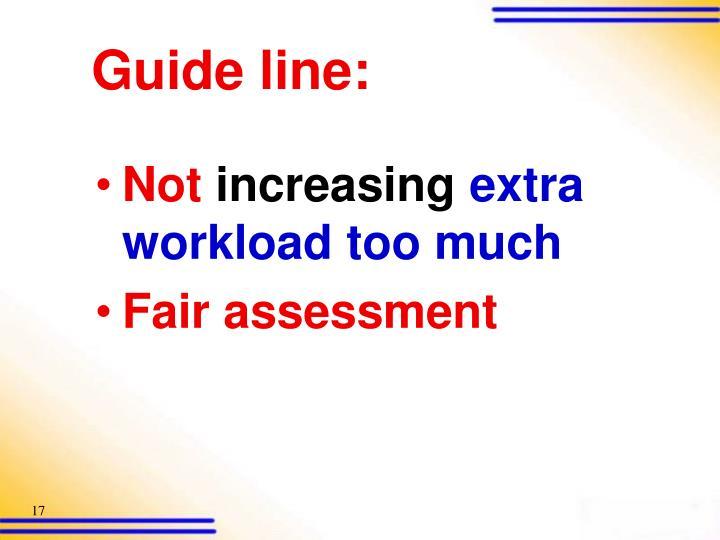 Guide line: