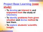 project base learning case study