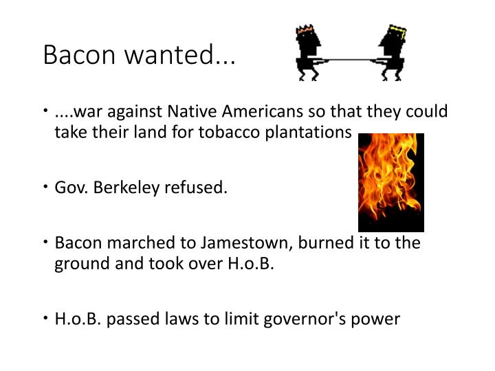 Bacon wanted...