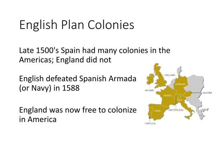 English Plan Colonies
