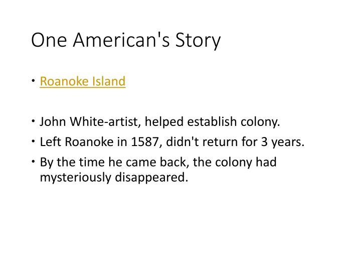 One American's Story