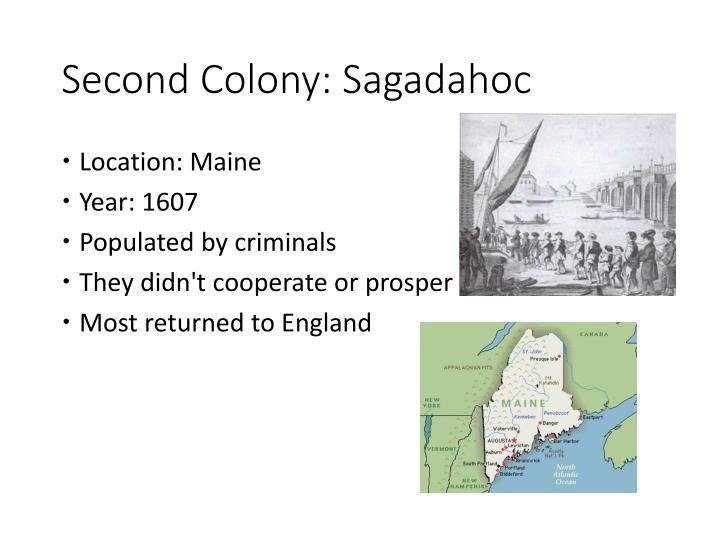 Second Colony: Sagadahoc