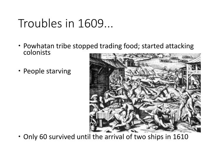 Troubles in 1609...