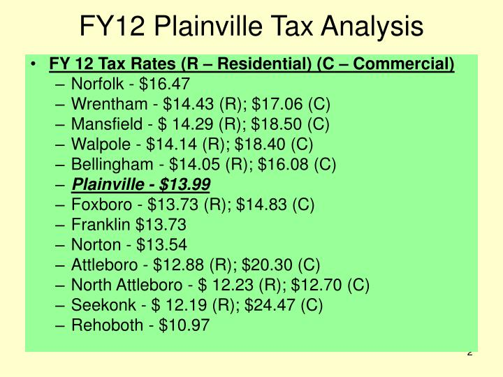 Fy12 plainville tax analysis1
