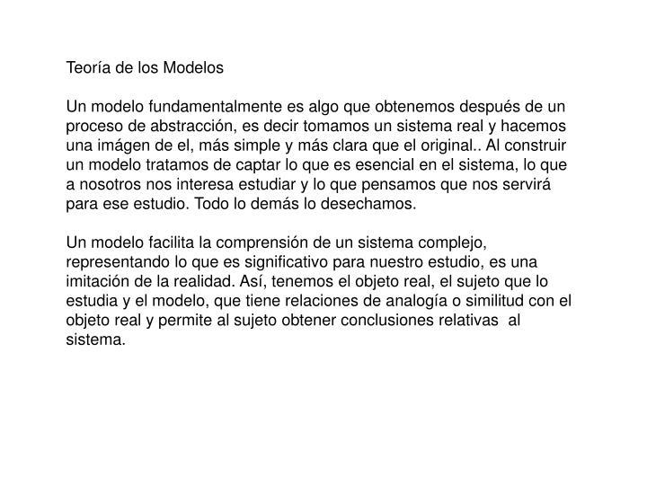 Teoría de los Modelos