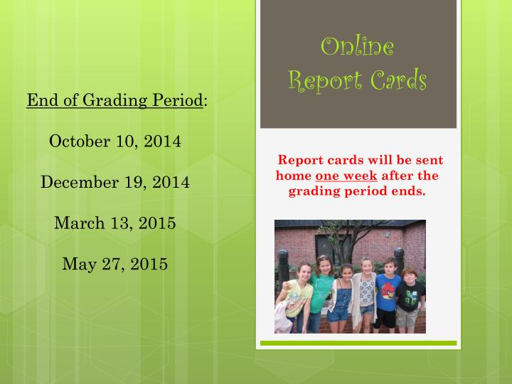 Online Report Cards