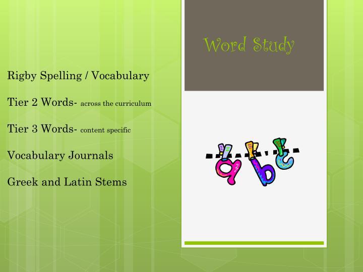 Rigby Spelling /
