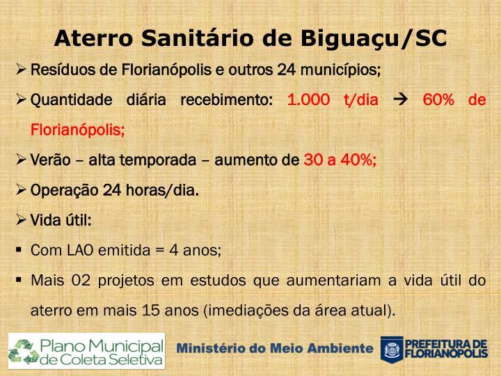 Aterro Sanitário de Biguaçu/SC