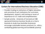 centers for international business education cibe