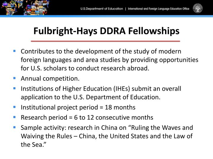 Fulbright-Hays DDRA Fellowships