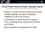 group projects abroad foreign language program