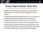 group projects abroad short term