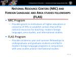 national resource centers nrc and foreign language and area studies fellowships flas