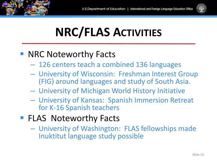 NRC/FLAS Activities