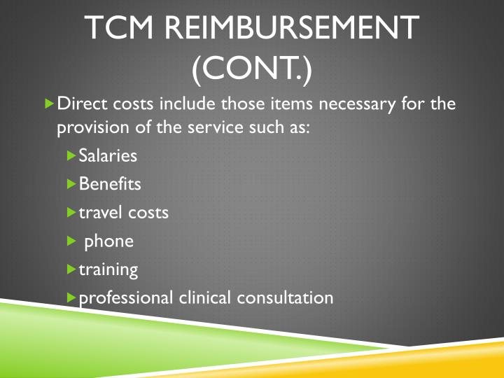 TCM Reimbursement (Cont.)