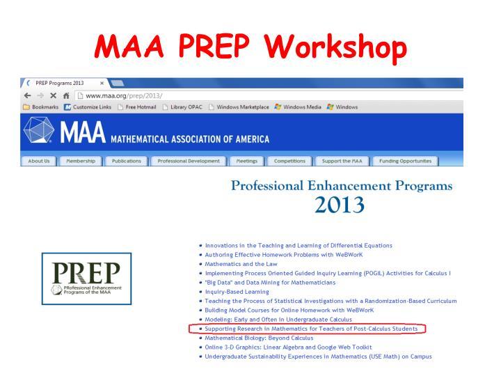 MAA PREP Workshop