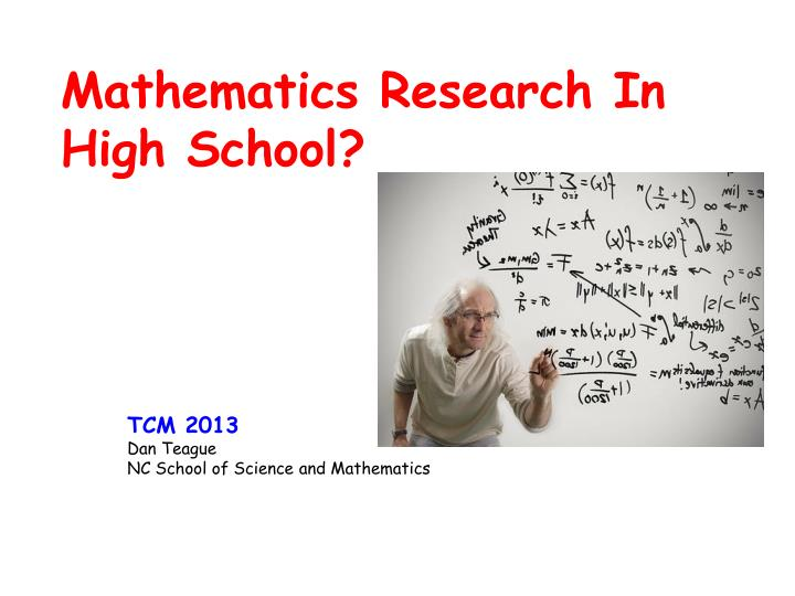 Mathematics research in high school