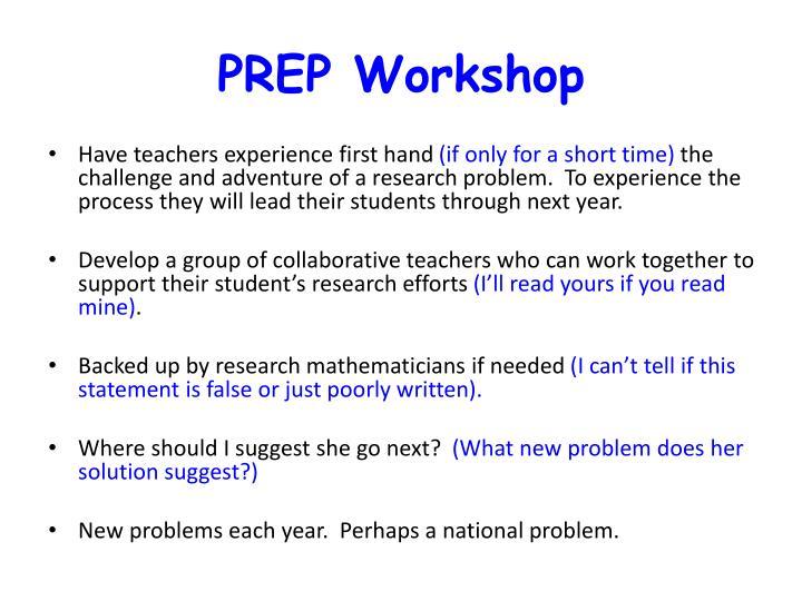 PREP Workshop