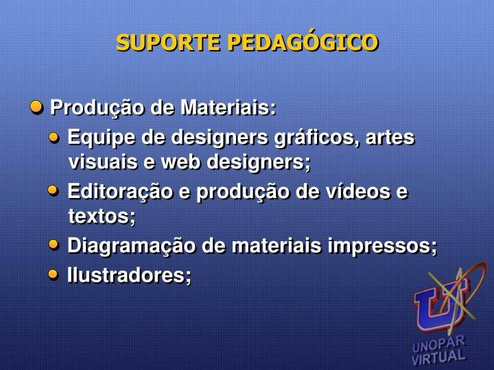 SUPORTE PEDAGÓGICO