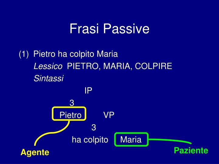 Frasi Passive