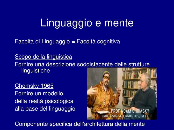 Linguaggio e mente