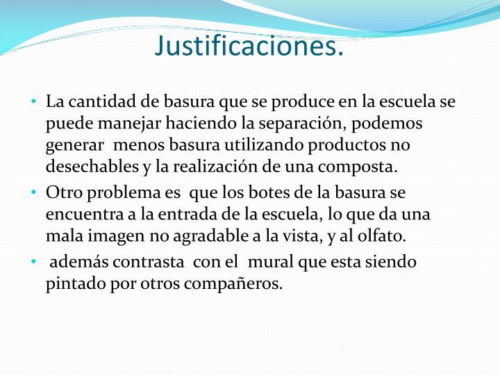 Justificaciones.