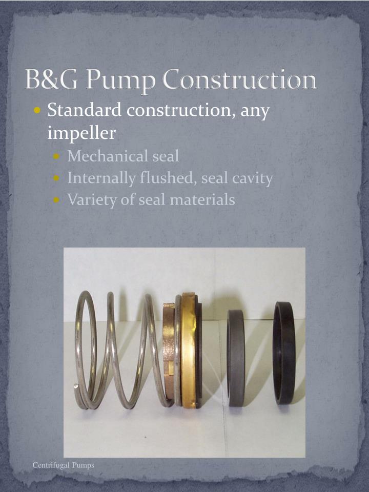 B&G Pump Construction