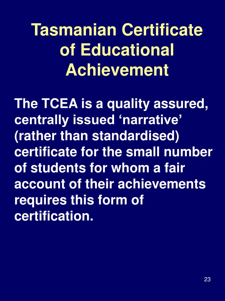 Tasmanian Certificate of Educational Achievement