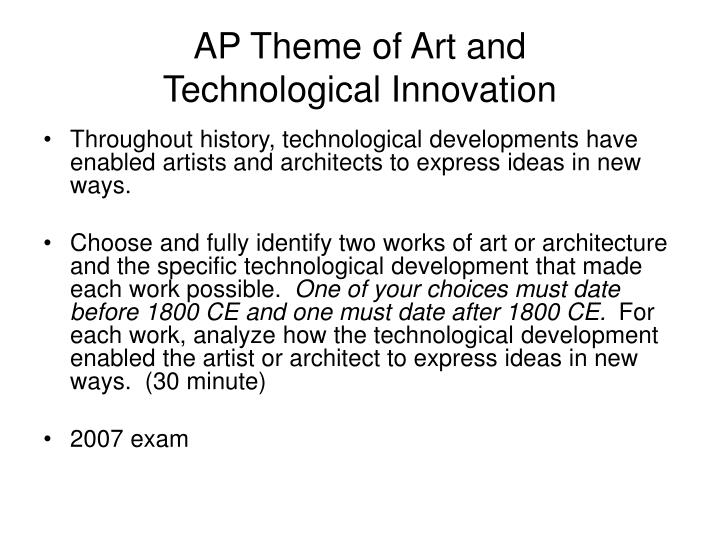 is ap art history essay What this handout is about this handout discusses several common types of art history describe the composition and art history can be done, read articles in.