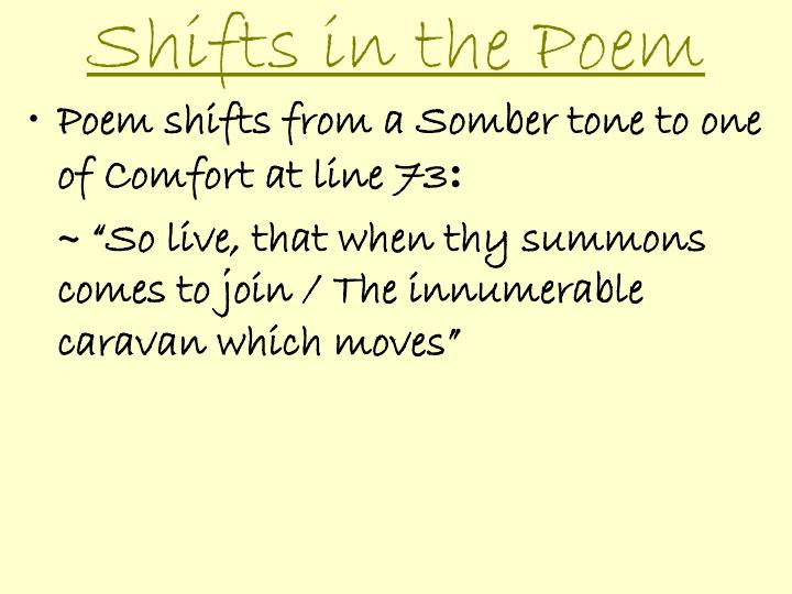 Shifts in the Poem