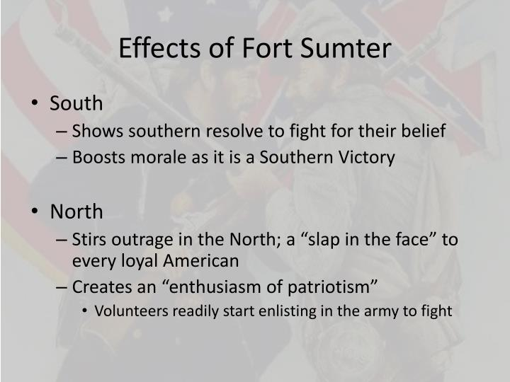 Effects of Fort Sumter