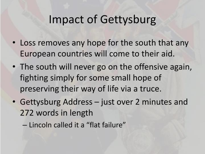 Impact of Gettysburg