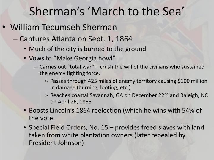 Sherman's 'March to the Sea'