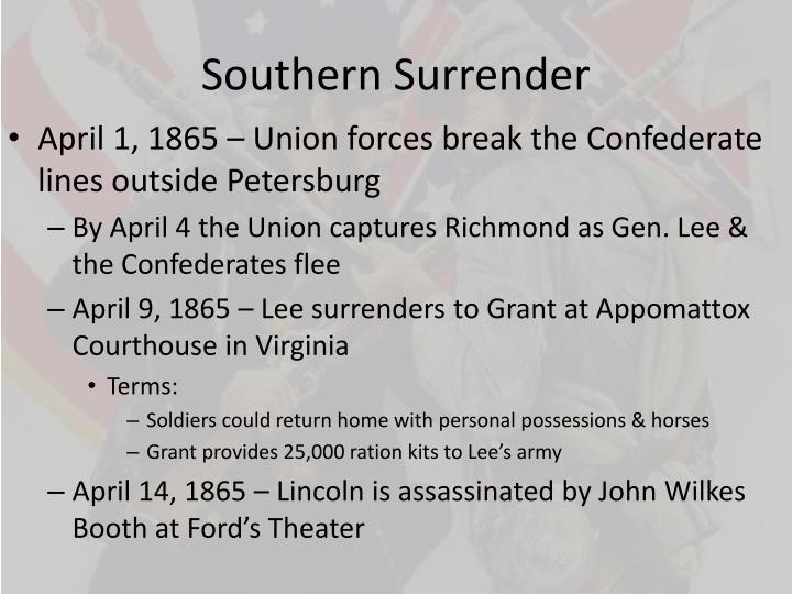 Southern Surrender